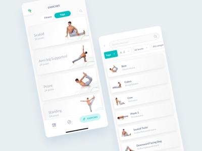 Yoga Exercises Minimal UI