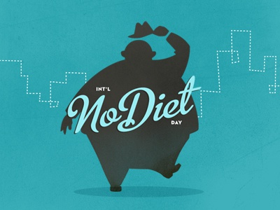 No Diet Day wwffhh typography illustration