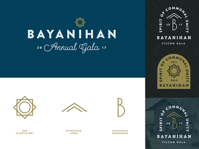 Bayanihan logo sun hawaii filipino philippines typography house bayanihan