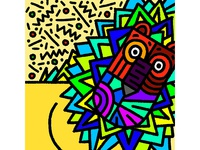 Lion illustration branding brand symbol isometric design illustration ducknco graphicdesign graphic design