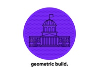 geometric build unit. symbol brand isometric design vector pictogram illustration graphicdesign graphic ducknco design