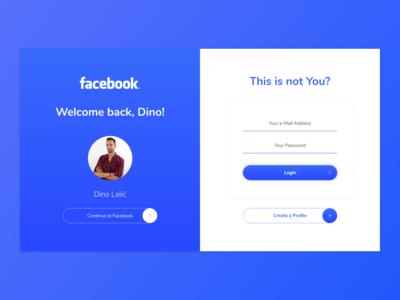 Facebook Login - UI Challenge