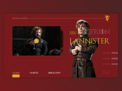 UI Challenge - About Game Of Thrones