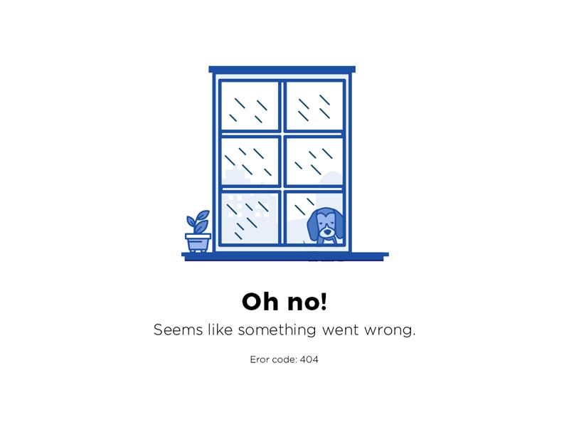 404 error page deisgn example #164: 404 page