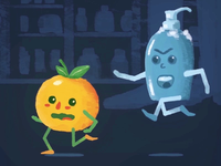 Wash it! wash it wash wash the orange orange wash hands soap dribbble gif animation 2d motiondesign animation after effects 2d animation vector animation