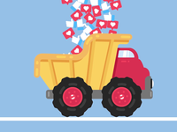 Emergency Delivery :) dumpster truck delivery emergency delivery truck vector animation motion animation social media animation after effects 2d animation