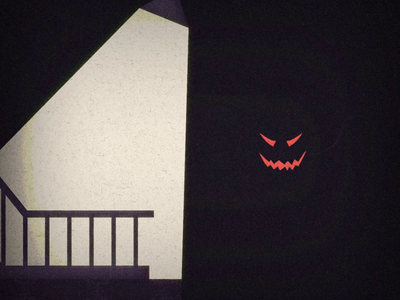 I'm watching you! im watching motion animation animation after effects animation 2d motiondesign vector animation 2d animation scary halloween camera shake light dark scary pumpkin halloween2019 halloween