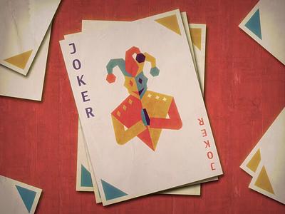 Joker illustrator motion animation motiondesign animation after effects 2d animation vector animation playing cards playing card joker card joker clown dribbble dribbble warmup dribbbleweeklywarmup