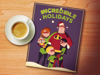 Incredible Holidays merry christmas 2d animation animation 2d motiondesign animation after effects vector animation illustration christmas card christmas holidays holiday card incredibles dribbble dribbbleweeklywarmup incredible holidays