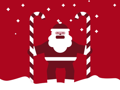 Tik Tok Santa dribbble animation 2d motiondesign animation after effects 2d animation vector animation snow happy holidays holidays christmas merry christmas santaclaus santa tik tok tik tok santa