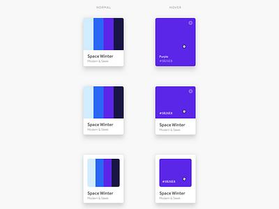 Color Palette Component control interface interaction setting onboarding dashboard picker concept web app ui ux framework component color palette flow