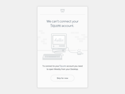 Mobile Onboarding screen sync connection process outline stroke retro vintage classic card design mobile app vector icon features apple macintosh computer ui ux progress onboarding flow illustration