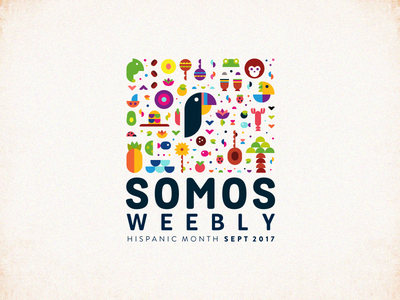 Hispanic Month Badge weebly hispanic event sticker branding design logo vector illustration iconography emblem badge
