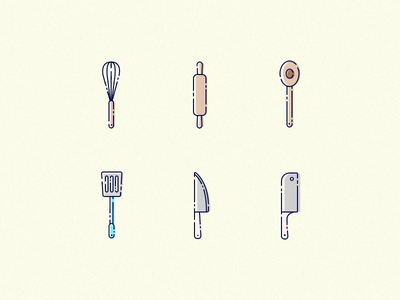 Kitchen Icons concept logo iconography vector ui illustration icon kitchen utensils design dashboard app
