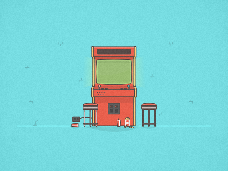 Arcade machine illustration