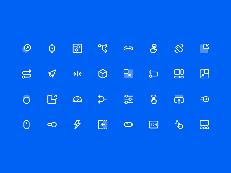 UX Flow &  Wireframe Icon Set