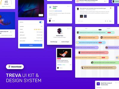 TREVA UI Kit & Design System design component website design web design dashboard flow analysis ui ui ux design design stats dashboard design dashboard ui design system ui kit admin dashboard