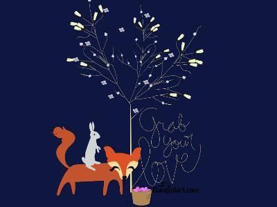 grab your love grabyourlove rabbit fox love valentine