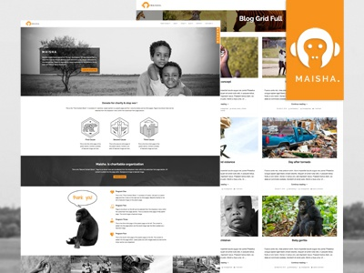 Maisha - Charity / Non-Profit WordPress Theme portfolio photography magazine blog corporate donation causes fundraising non-profit charity wordpress theme charity