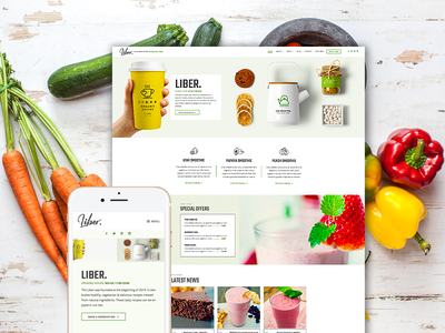 Liber - Restaurant & Bar WordPress Theme food blogger recipes restaurant wordpress theme healthy food pub brewery winery cafe bar restaurant