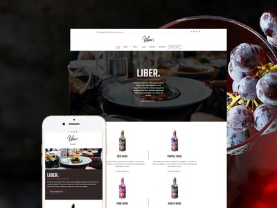 Liber - Restaurant & Bar WordPress Theme food blogger recipes restaurant wordpress theme healthy food pub brewery winery cafe bar restaurant
