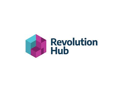 Revolution Hub / Branding design visual identity corporate identity brand brand identity symbol mark marca logo branding