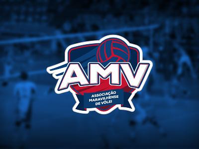 AMV / Branding volleyball volley coat of arms ball amv brand identity marca mark logo branding