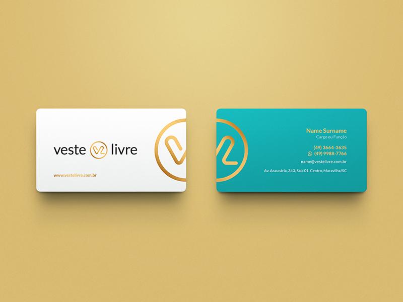 Veste Livre / Branding branding logo mark marca brand identity symbol business card veste livre fashion