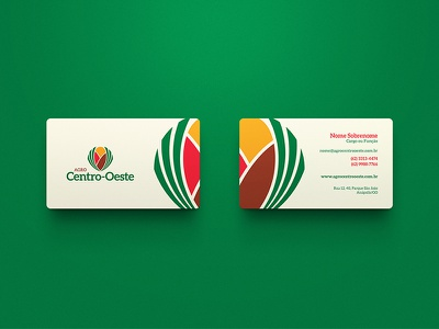Agro Centro-Oeste / Branding business cards branding brand brand identity logo mark marca symbol