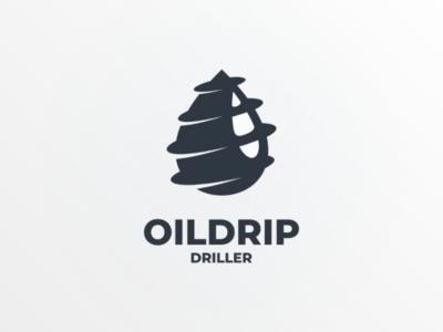 Oildrip graphicdesign logodesign companylogo company brand vector logo drill mining gas oil