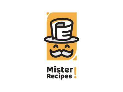 Mister Recipes vector logodesigns branding brand foodanddrink logo recipes