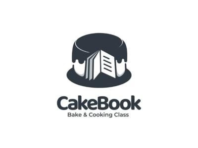 Cake book logodesigner logodesigns doublemeaning branding vector logo bake book cake cookingclass cooking