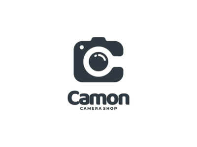 Camon doublemeaning logodesign logodesigner vector branding negativespace letterc lettermark logo photography camera