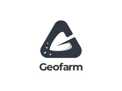 Geofarm logo logodesigns vector branding brand negativspace mining logodesign design logo