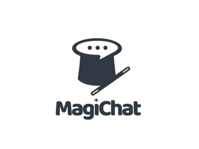 Magichat negativspace vector branding brand dualmeaning doublemeaning graphicdesign logodesigner logodesign logo chat hat magic