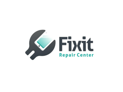 Repair tool + smartphone vector brand negativespace combination dualmeaning doublemeaning graphicdesign logodesign repair logo