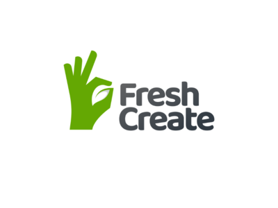 Fresh create branding brand vector fruit vegetable food delivery create leaf fresh logodesigns logo