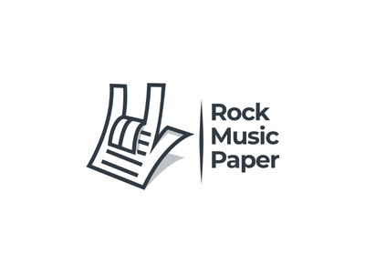 Rock hand + paper logodesigner profesionallogo vector graphicdesign music logodesign creativelogo smartlogo logo dualmeaning doublemeaning
