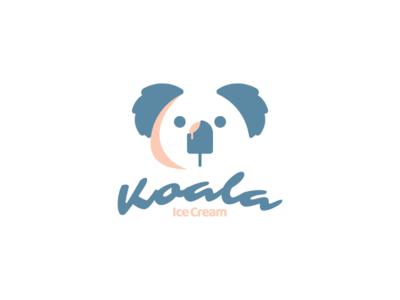 Kola ice cream branding brand logodesigner animal vector graphicdesigns logodesigns logo dualmeaning icecream koala