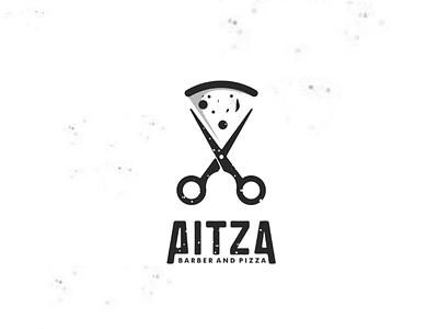 Pitza identity branding brand profesionallogo companylogo vector graphicdesigns logodesigns design logo barber food pizza scissors