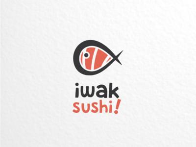 Iwak sushi japanese foodanddrink branding brand vector graphicdesigner logodesigner logodesigns logo fish sushi