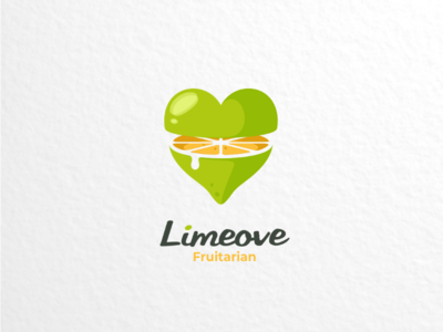 Limeove vector branding brand graphicdesigns logodesigner logodesigns combination dualmeaning logo fruitarian fruit lime lemon love