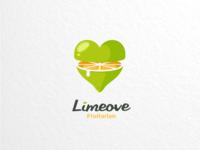 Limeove vector branding brand graphicdesigns logodesigner logodesigns combination dualmeaning logo fruitarian fruit lime lemon love