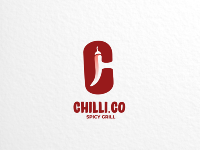 Chilli.co vector brand branding restaurant foodanddrink grill spicy logodesigner logodesigns design logo