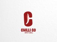 Chilli.co vector brand branding restaurant foodanddrink grill spicy logodesigner logodesigns design logo