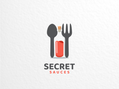 Secret sauces dualmeaninglogo logoinspirations branding brand graphicdesigns logodesigner logodesign logo foodanddrink food secret sauces