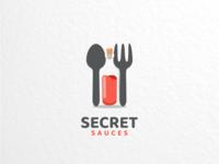 Secret sauces dualmeaninglogo logoinspirations branding brand graphicdesigns logodesigner logodesign logo foodanddrink food secret sauces