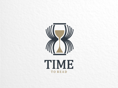 Time to read vector brand branding graphicdesigns logodesigner logodesigns logoinspirations creativelogo dualmeaning logo hourglass time book library