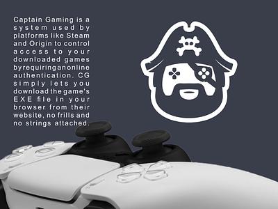 Captain gaming branding brand vector graphicdesigner graphicdesigns logodesigner logodesign pirate logo captain gaming game