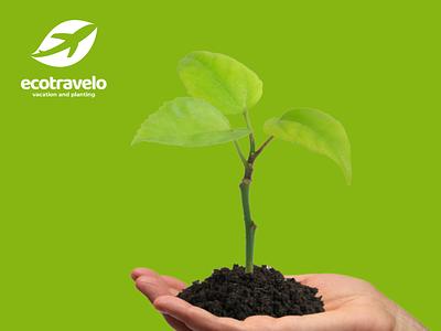 Ecotravelo logooftheday profesionallogo companylogo logoinspiration dualmeaning creativelogo branding vector graphicdesigner graphicdesign logodesigner logodesign planting leaf eco logo travel